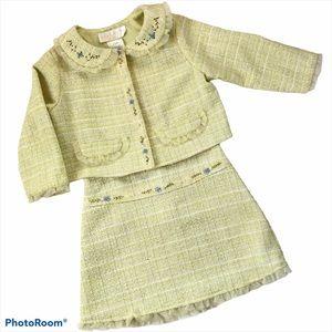 Biscotti Collezioni Girls Jacket Skirt Suit Set